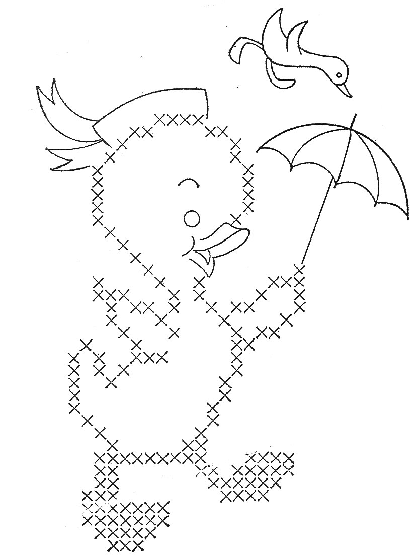 Free coloring pages of cross stitch