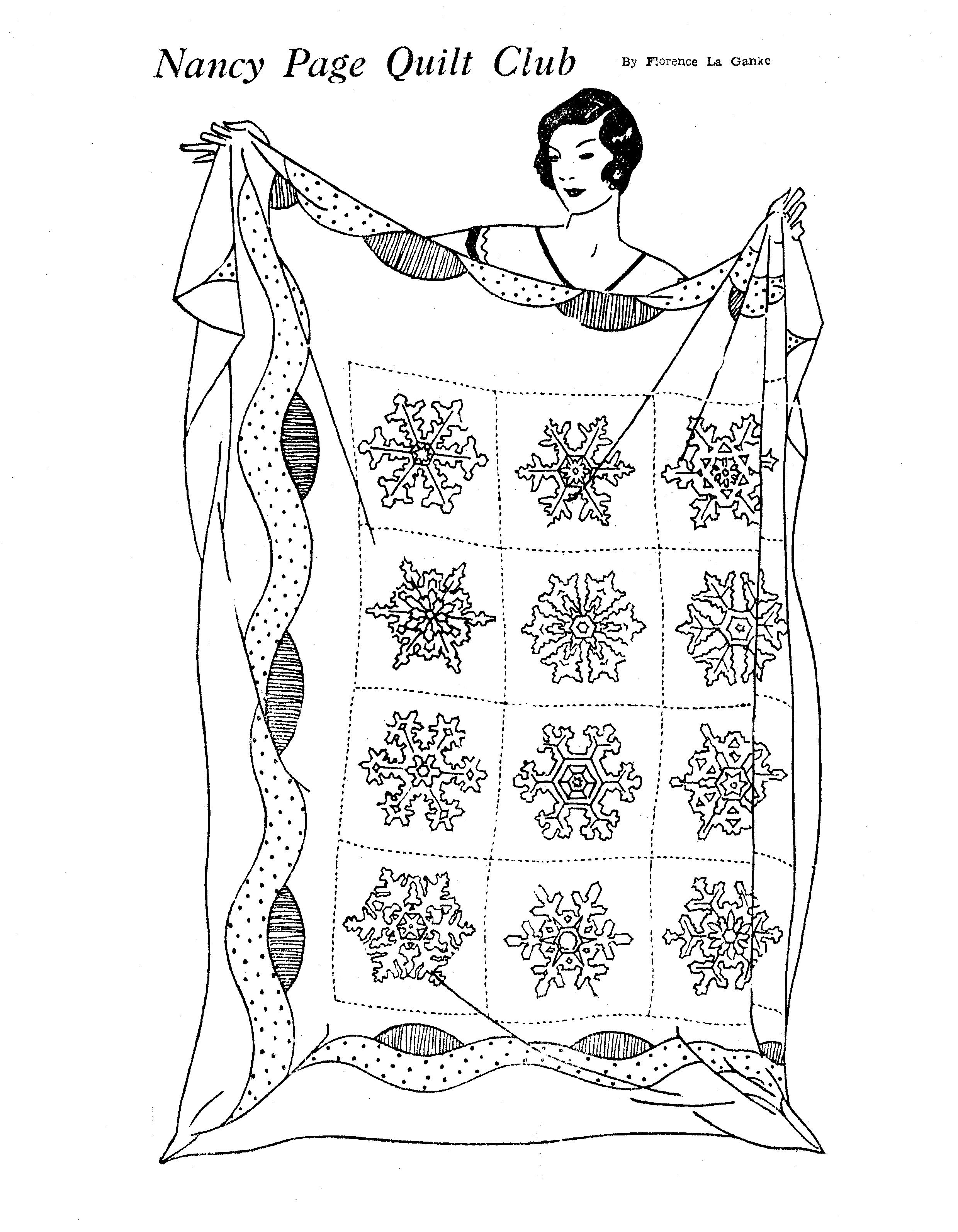 BLACK AND WHITE QUILT PATTERNS « Free Patterns