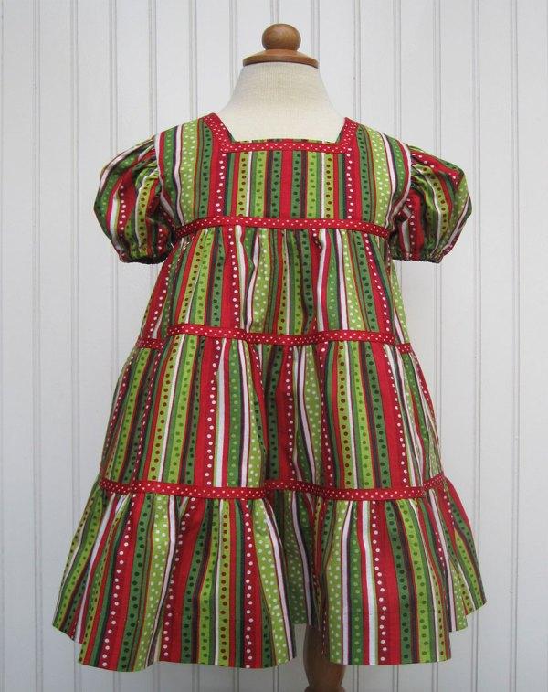 Vintage-inspired Little Girl Christmas Dresses Quilter