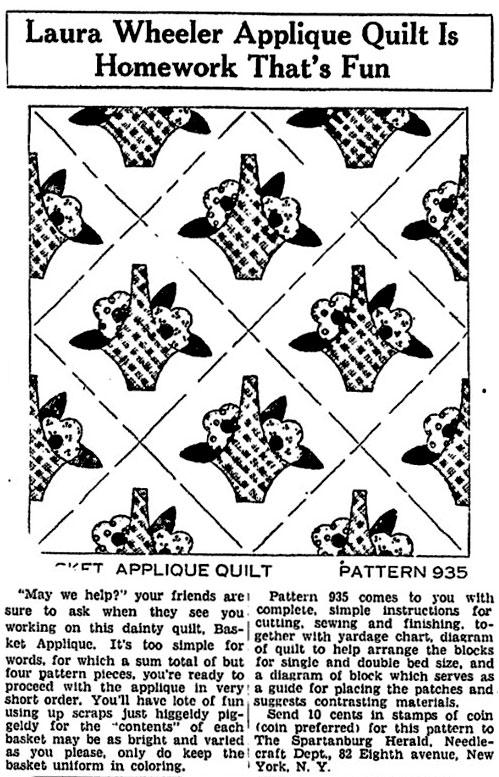 Laura Wheeler Quilt Pattern – Flower of Spring