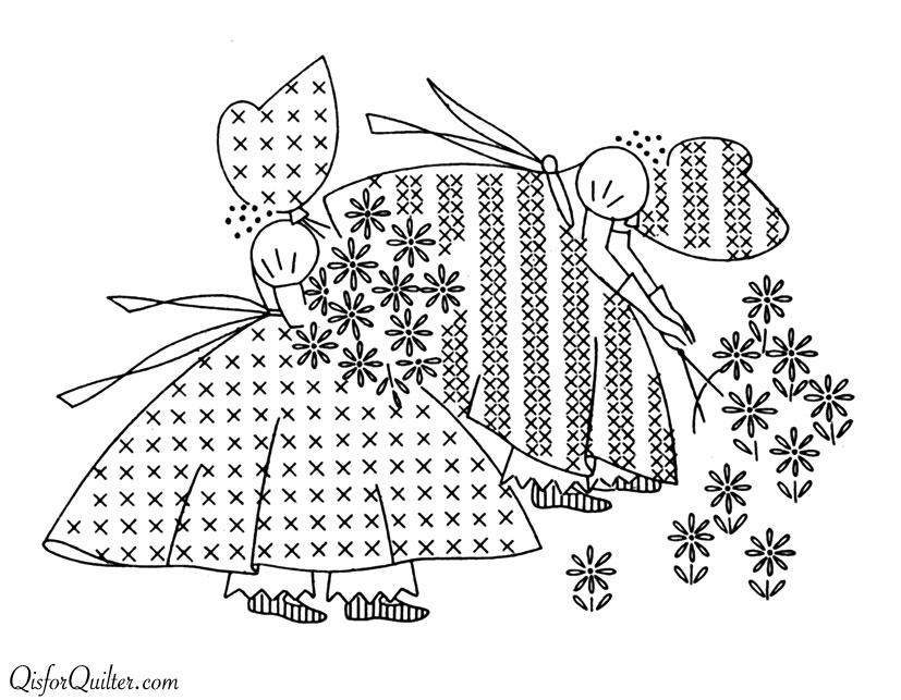 Vintage Embroidery Transfers — Sunbonnet Sue