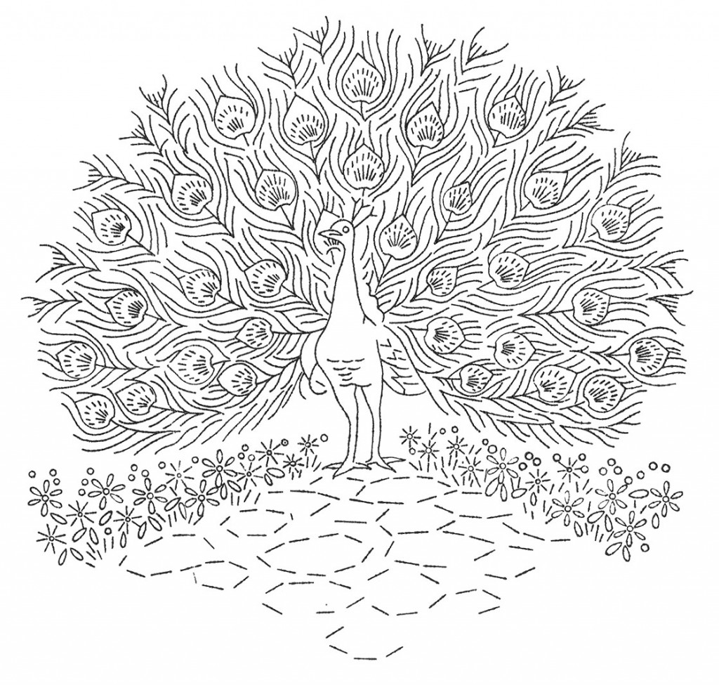 Laura Wheeler Design 664 — Peacocks