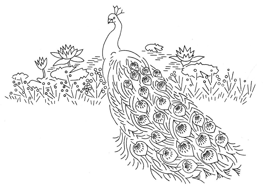 Laura Wheeler Design 664 — Peacocks