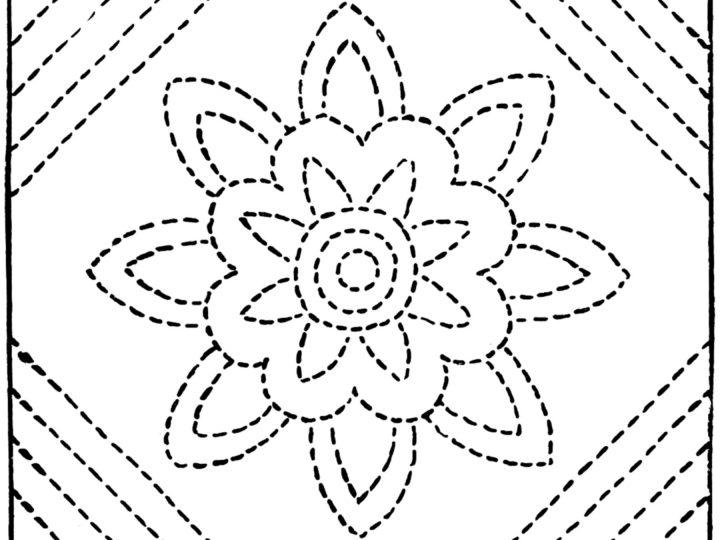 Laura Wheeler – Flower of Autumn Quilt Pattern
