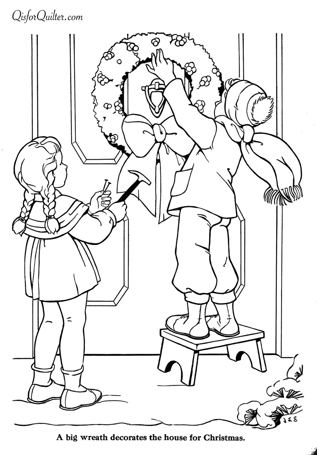 Images About Christmas And Winter Coloring Pages On