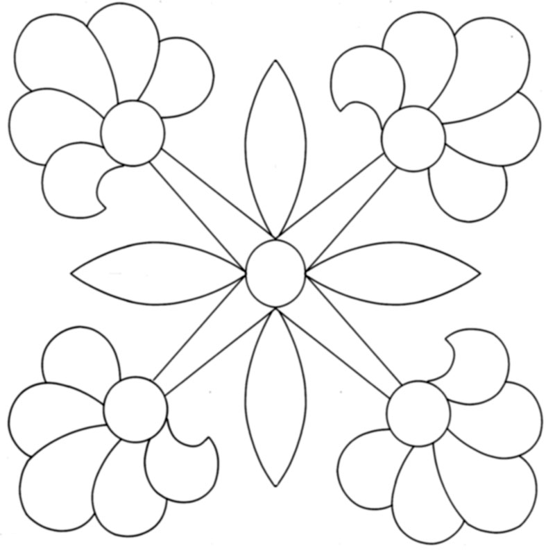 Free Pattern Friday — Four Rose Appliqué Blocks