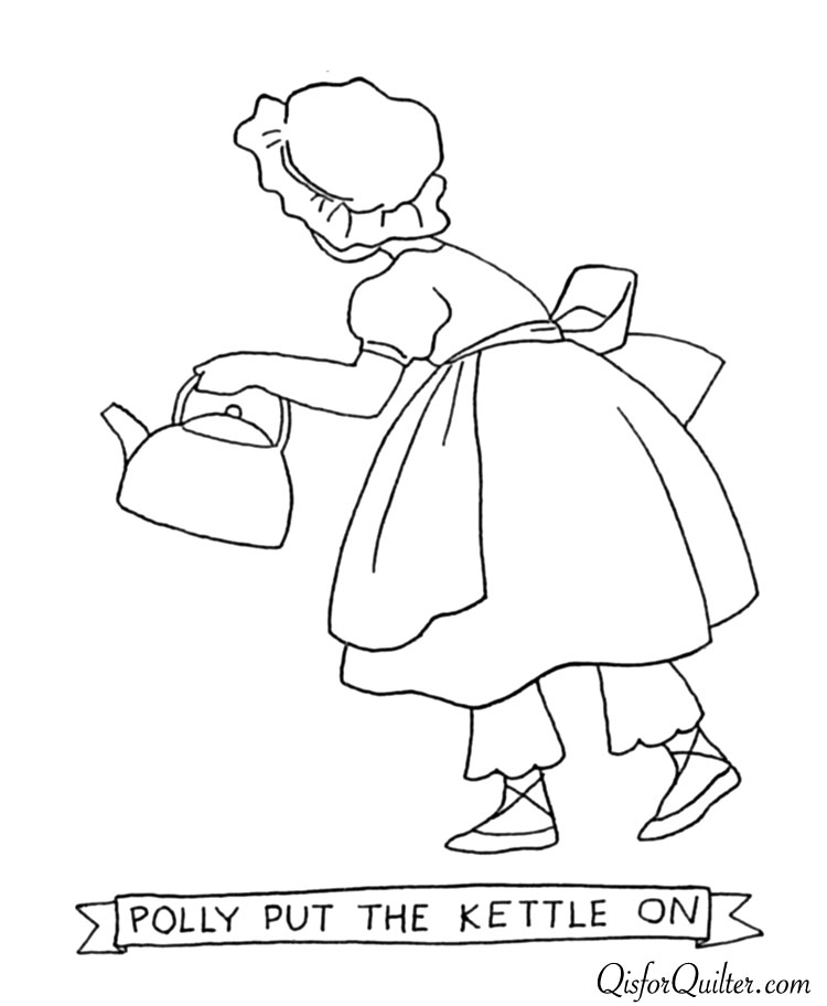 Polly Put The Kettle On Coloring Page