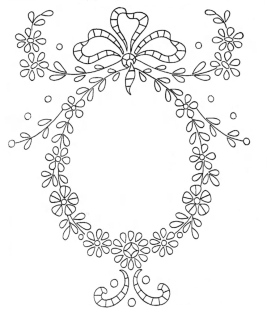 Vintage Embroidery Transfers — Initials