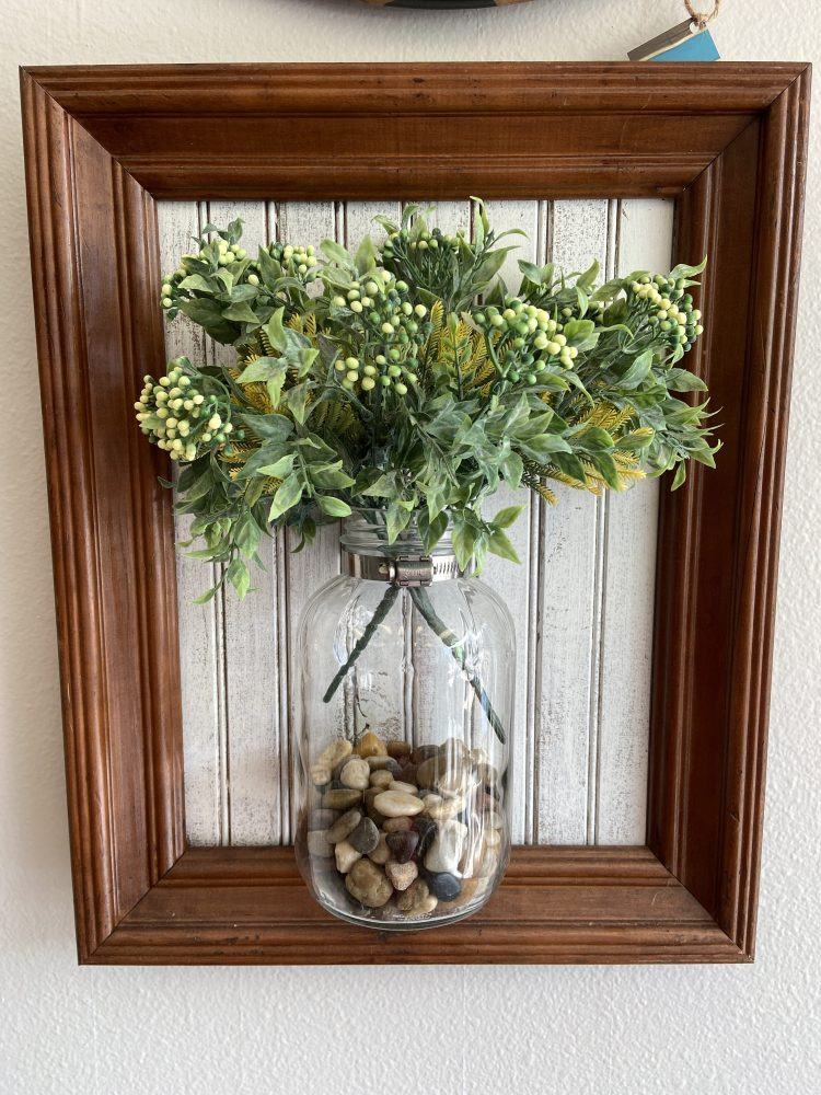 Vintage Jar on Reclaimed Wood with Frame