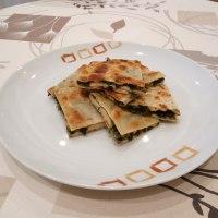 Palack prantha(pan indio relleno de espinacas)