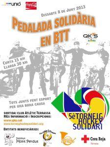 Pedalada solidaria en BTT 2013
