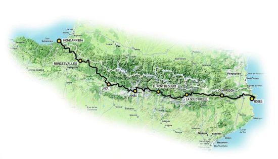 mapa transpyr pirineo