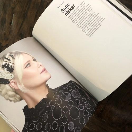 Sofie Linde optræder som model i Ikonmakeup af Nina Larsen