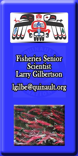 Quinault Department of Natural Resources Senior Scientist Larry Gilbertson