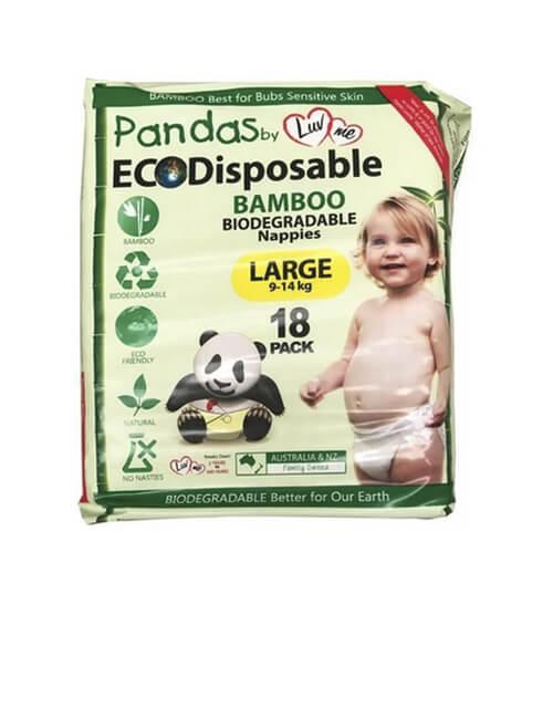 Nappies - Eco Bamboo Luv Me Panda