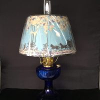 New Aladdin Oil Lamp  Lincoln Drape Table Lamp  Cobalt
