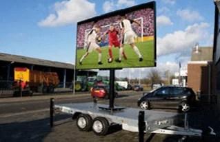 EK2016 voetbal op groot ledscherm