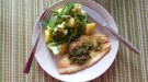 White fish with butter capers sauce
