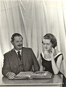 (Maria) Teresa D'Arms (née Waugh); Evelyn Waugh by Madame Yevonde, matte bromide print, 1956