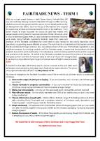 Fairtrade newsletter Dec 2017