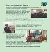 Fairtrade newsletter term 1