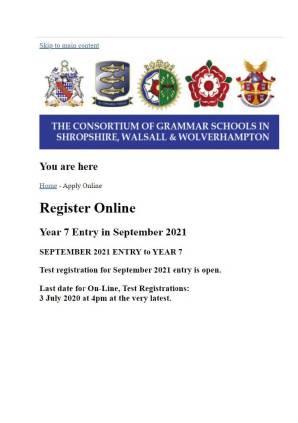 registration form 2021