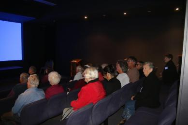Visitors in the Sarah Riley Theatre