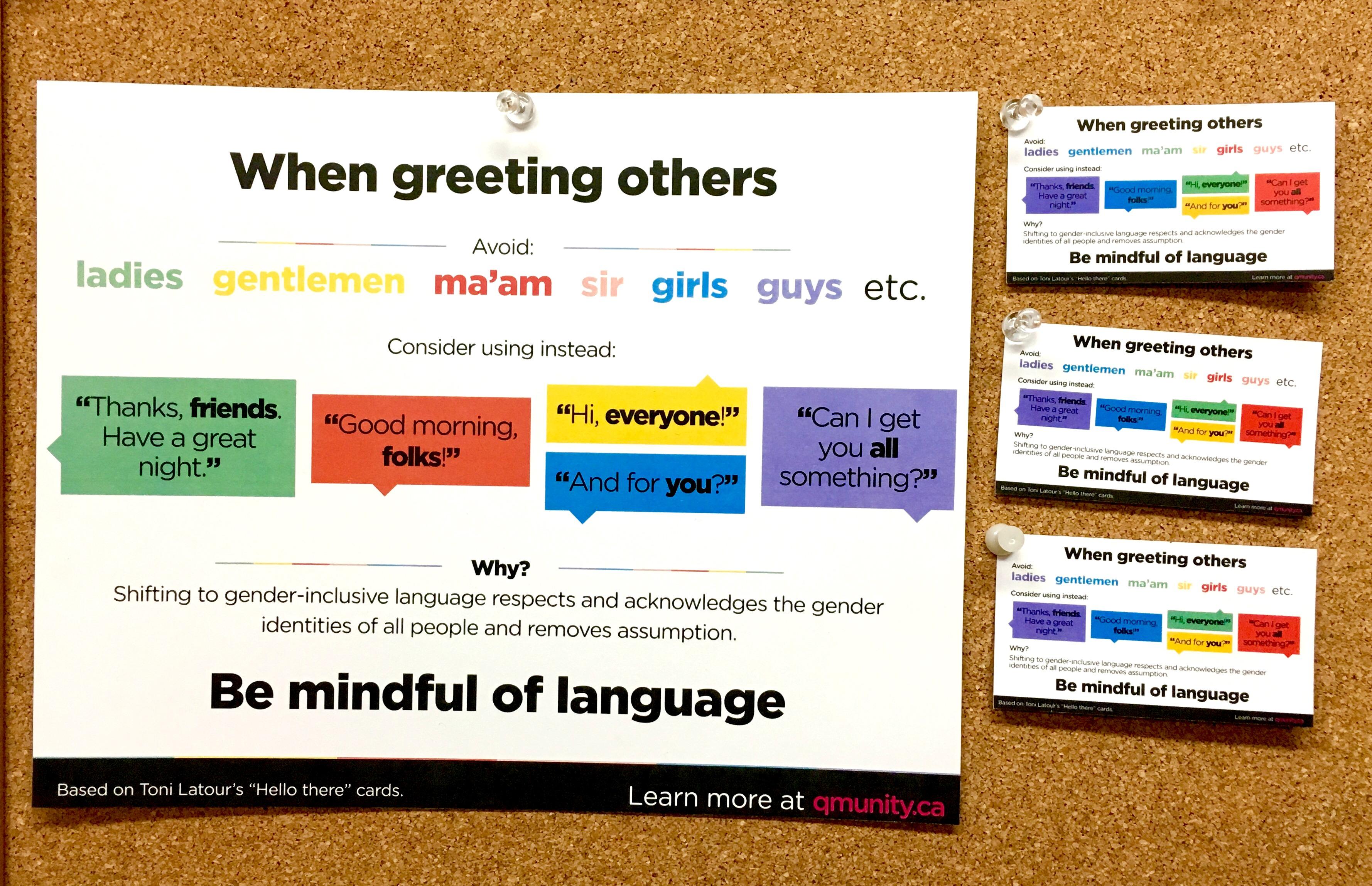 Gender Inclusive Language Sheet