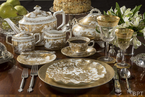 Etiquette dictates forks go to the left of the dinner plate, knives and spoons to the right.