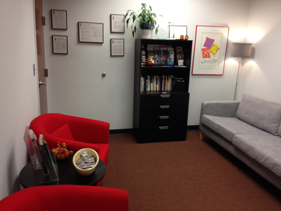 The Regional AIDS Interfaith Network's new office space includes a welcoming lobby area,  complete with furniture donated by Ikea. File Photo