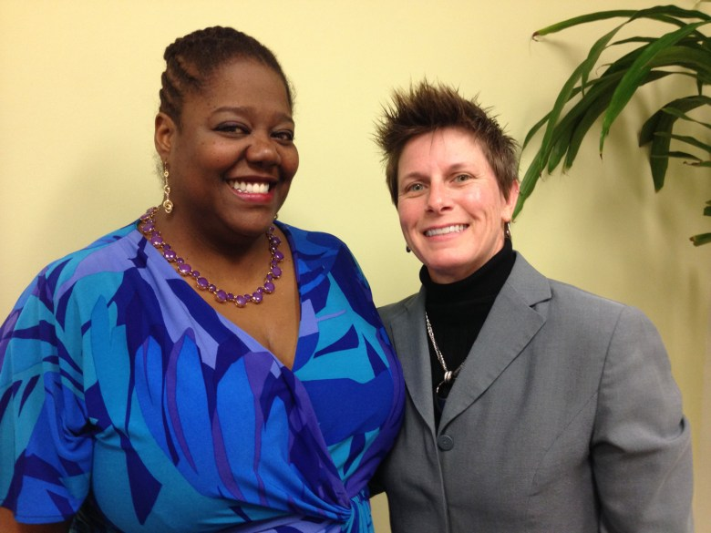 LaWana Mayfield and Connie Vetter. Staff Photo