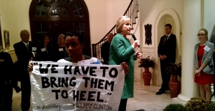 hillary clinton protester