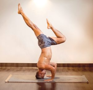"""Edwin Gil uses yoga as a complement to his artistic endeavors. He says that the combination 'feed my soul."""""""