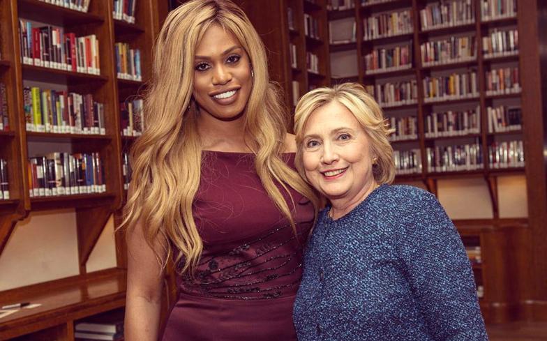 Laverne Cox Hillary Clinton