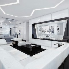 Modern White Living Room Furniture Designing Layout Black And 6433