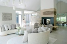 Modern White Living Room Design