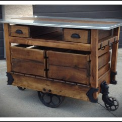 Kitchen Island Carts Remodels Before And After Rustic Kithcen Cart 6542