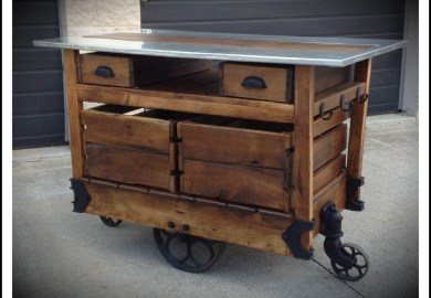 Antique Kitchen Island Cart