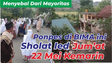 Photo of Menyebal dari Mayoritas, Darul Ulumi Wal Amal Bima Tetap Shalat Ied Jum'at Kemarin