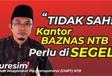 Photo of Gerakan Masyarakat Pro Transparansi (GMPT) Ancam Segel Kantor Baznas NTB