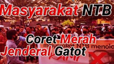 "Photo of Tolak Deklarasi KAMI, Masyarakat NTB ""Coret Merah"" Foto Jenderal Gatot"