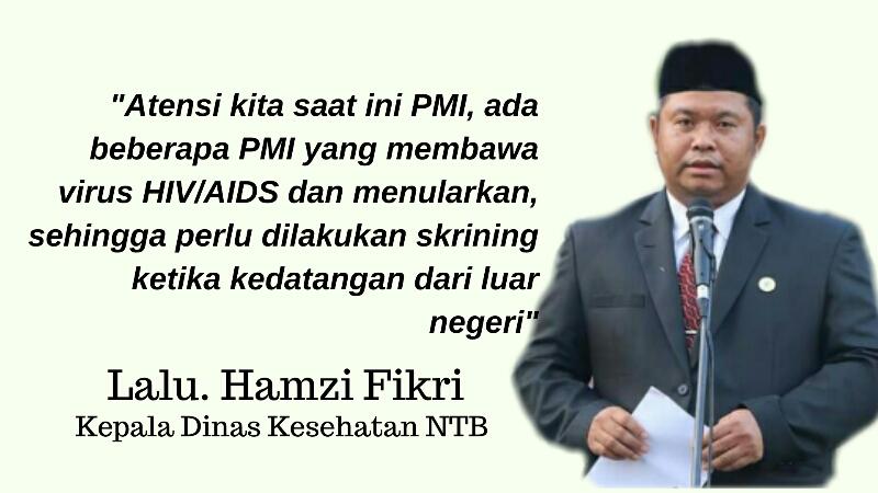 Kepala Dinas Kesehatan NTB, Lalu. Hamzi Fikri