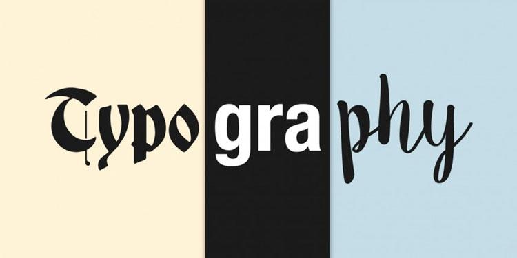 pengertian tipografi, typografi, typography, contoh tipografi