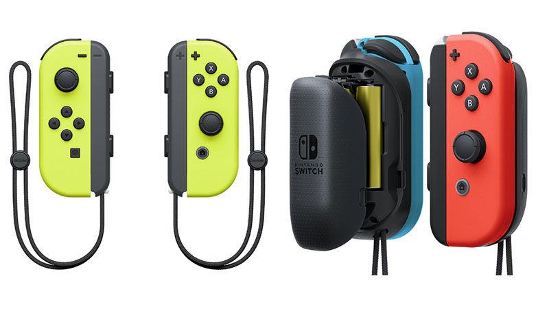 任天堂 Switch 新霓虹黃 Joy-Con 手掣及電池擴充配件   Qooah