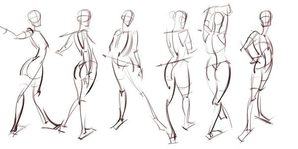 What are the differences between figure drawings, gesture