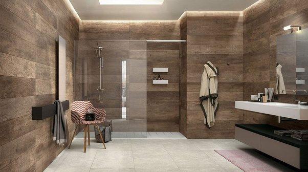 What are good ways to arrange tiles on bathroom walls  Quora