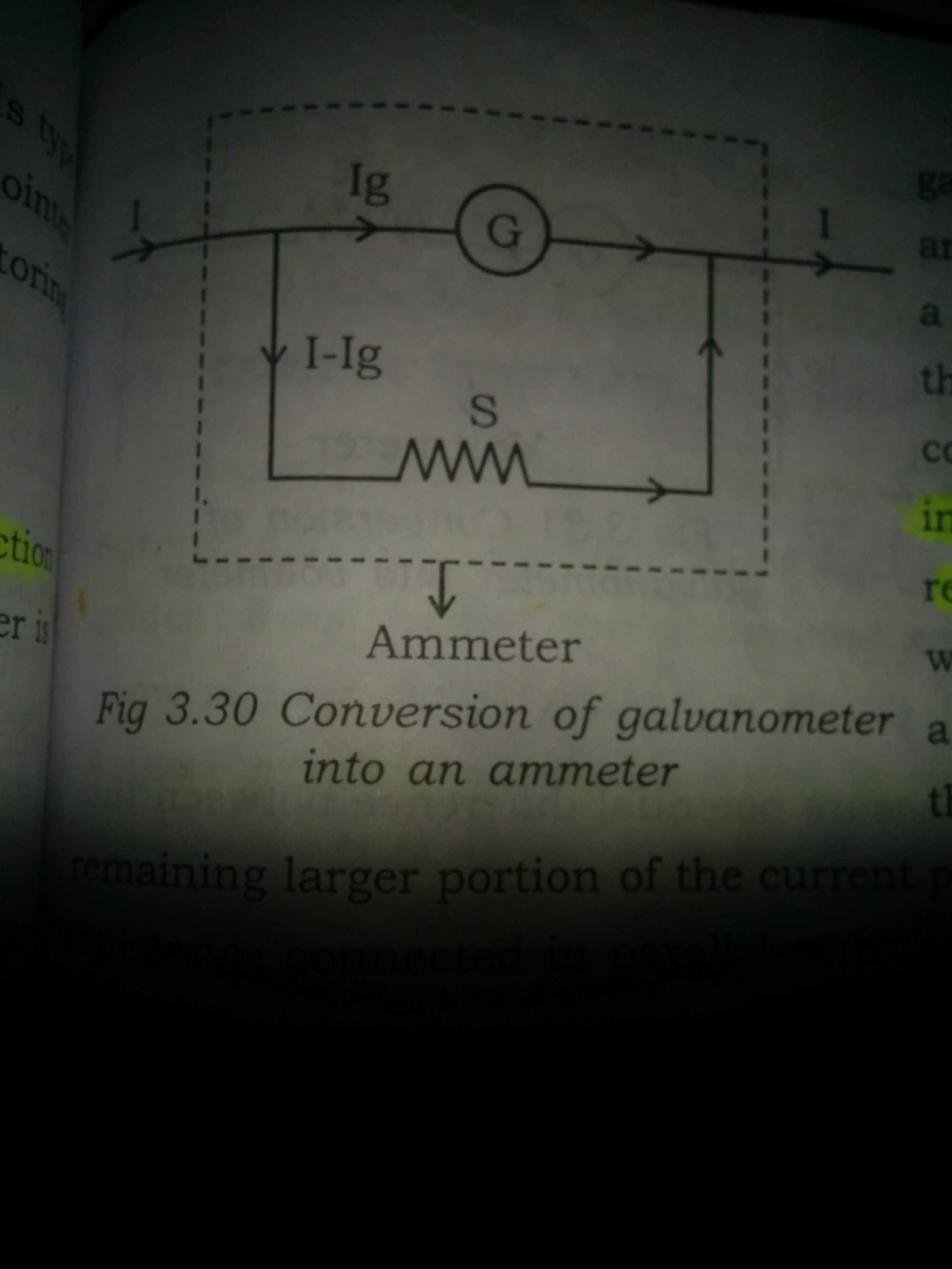 hight resolution of so the ammeter parallel combination of galvanometer and shunt resistance will have low resistance