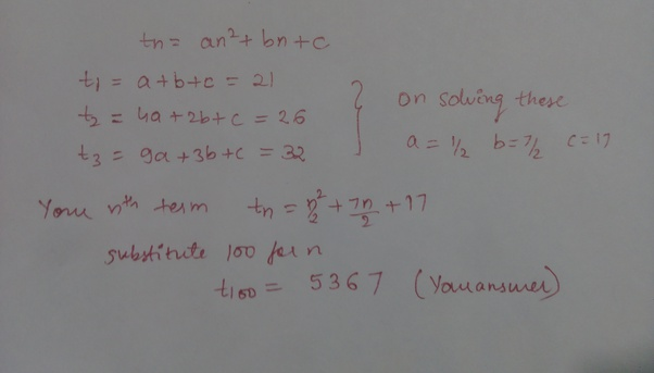 How to solve the following problem: Find the 100th term in