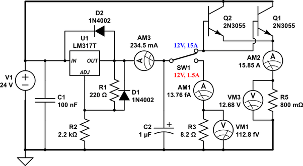 What components and circuits are required for the step