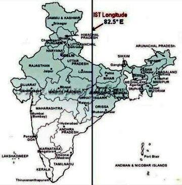 Does the Indian meridian of time pass through Allahbad or Mirzapur? - Quora